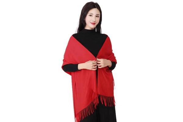 年会红围巾