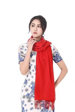 结婚喜事红围巾